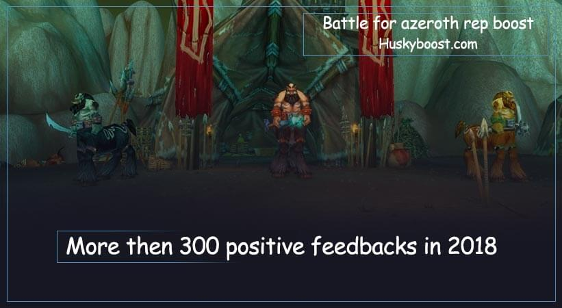 Battle for azeroth reputation boost