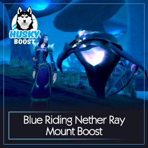 Blue Riding Nether Ray Mount Boost
