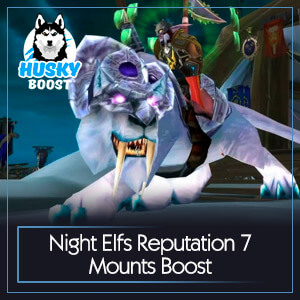 Night Elfs Reputation 7 Mounts Boost
