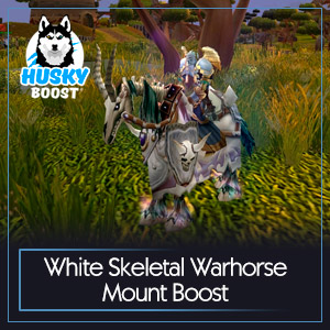 White Skeletal Warhorse Mount Boost