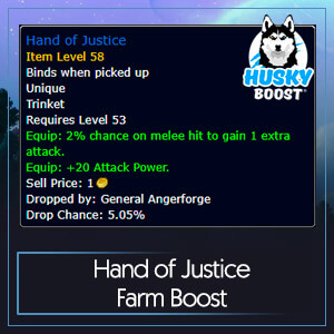 Hand of Justice Farm Boost Image