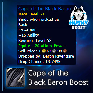 Cape of the Black Baron Farm Boost
