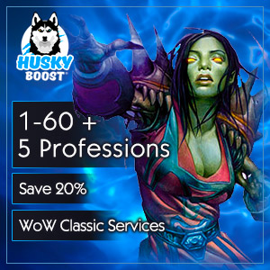 1-60 Level Boost + 5 Professions (save 20%)