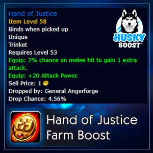 Classic Hand of Justice Farm Boost