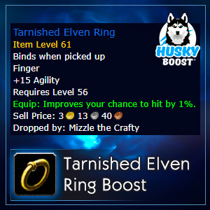 Classic Tarnished Elven Ring Boost