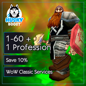 1-60 Level Boost + 1 Profession (save 10%)