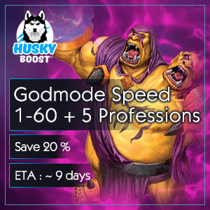 Godmode Speed 1-60 + 5 Professions (save 20%)